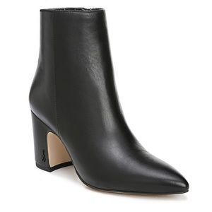 Sam Eldeman Hilty black leather booties